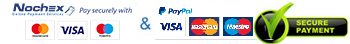 Secure payment with PayPal and Nochex