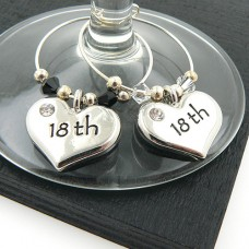 18th Wine Charms - Set of 2