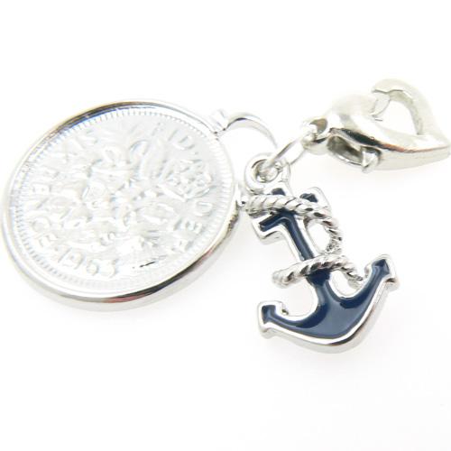 Garters Wedding: Wedding Garter Charms : Anchor And Sixpence Wedding Garter