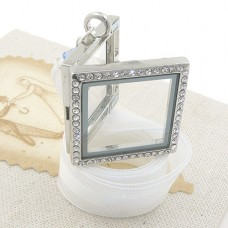 Picture Frame Bouquet Charm with Swarovski® Crystal