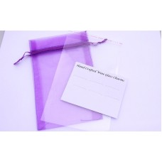 Wine Charms Packaging - Mounting Card and Bag - Purple