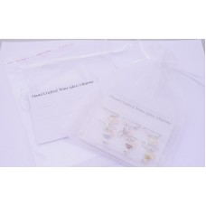 Wine Charms Packaging - Mounting Card and Bag - White
