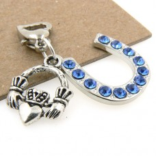 Horseshoe and Irish Claddagh Wedding Garter Charm