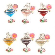 Cocktail Glass Charms