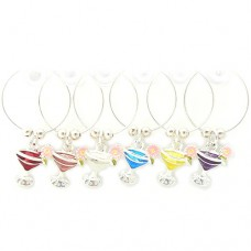 Cocktail Wine Glass Charms