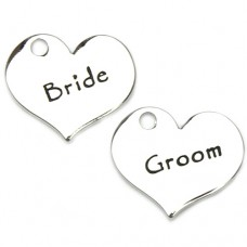 Bride and Groom Charms - Contemporary Style