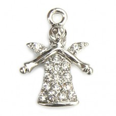 Guardian Angel Charm - Clear