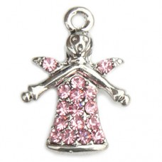Guardian Angel Charm - Pink