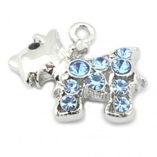 Dog Charm - Westie Scottie - Blue