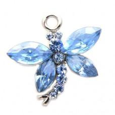 Dragonfly Charm - Blue