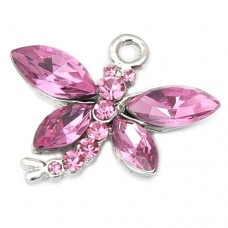 Dragonfly Charm - Pink