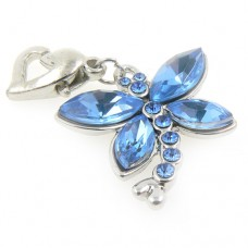 Crystal Dragonfly Wedding Garter Charm