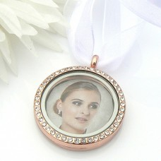 Crystal Picture Frame Bouquet Charm