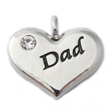 Dad Charm - Wedding Heart Charm