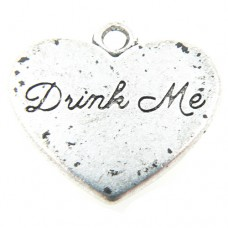 Drink Me Heart Charm