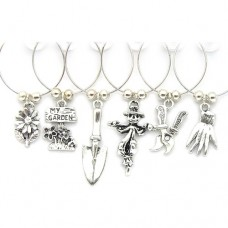 Gardeners Gift Wine Glass Charms