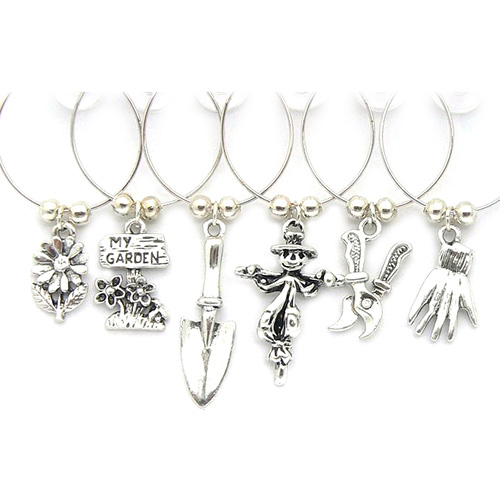 Gardeners wine glass charms silver wine glass charms for Gardeners supply company catalog
