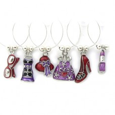 Girlie Wine Glass Charms
