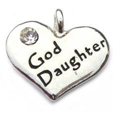 God Daughter Heart Charm