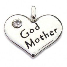God Mother Heart Charm