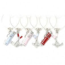 Golf Wine Glass Charms