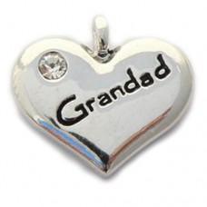 Grandad Heart Charm