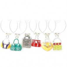 Enamel Handbag Wine Glass Charms