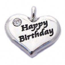 Happy Birthday Heart Charm