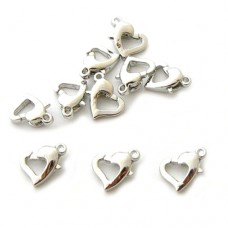 Heart Lobster Clasp - 12mm