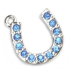 Horseshoe Charm - Blue