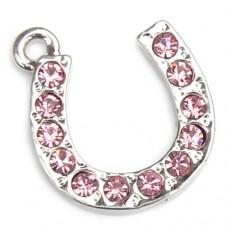Horseshoe Charm - Pink