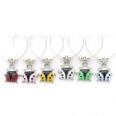 Ladybird Wine Glass Charms