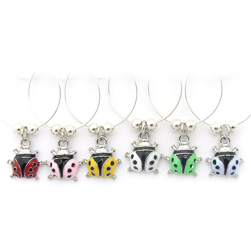 Ladybird Wine Glass Charms Enamel Wine Charms