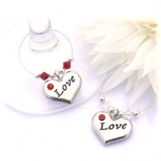 Love Wine Glass Charms