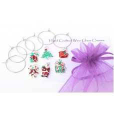 Make Your Own Christmas Wine Glass Charms Kit
