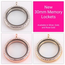 Memory Locket Picture Frame Charm - 30mm