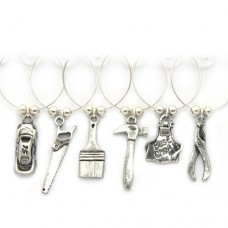Boys Toys DIY  Wine Glass Charms