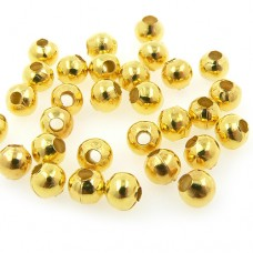 Metal Spacer Beads - -Gold - 3mm - Pack of 200