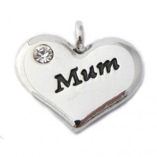Mum Charm - Wedding Heart Charm