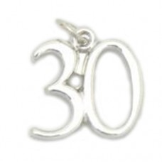 Number 30 Charm