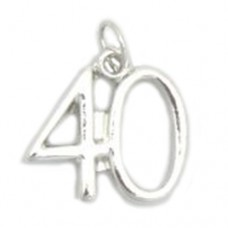 Number 40 Charm