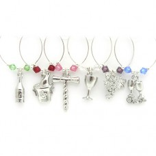 On The Vine Wine Glass Charms