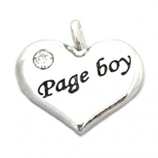 Wedding Heart Charm - Page Boy