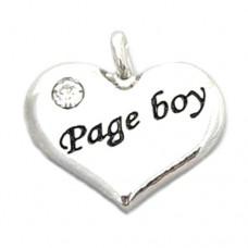 Wedding Heart Charm - Page Boy