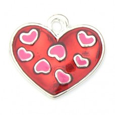 Red and Pink Heart Charm