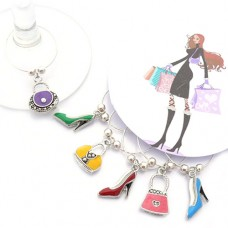 Stiletto and Handbag Wine Glass Charms