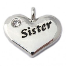 Sister Charm - Wedding Heart Charm