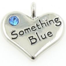 Wedding Heart Charm - Something Blue
