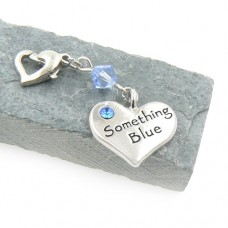 Something Blue Wedding Garter Charm