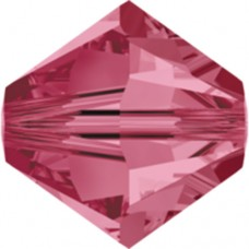 Swarovski® Crystal Bicone 4mm Rose Pink